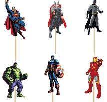 Avengers Cupcake-Topper Avengers Super Hero Geburtstag Party Dekoration Kids Supplies 24 Stück (Geburtstagsparty Avengers Die)