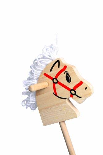 Steckenpferd aus stabilem Holz, altbewährtes Spielzeug in einem klassischen Design, idealer Spielpartner für kleine Pferdeliebhaber ab 3 Jahren