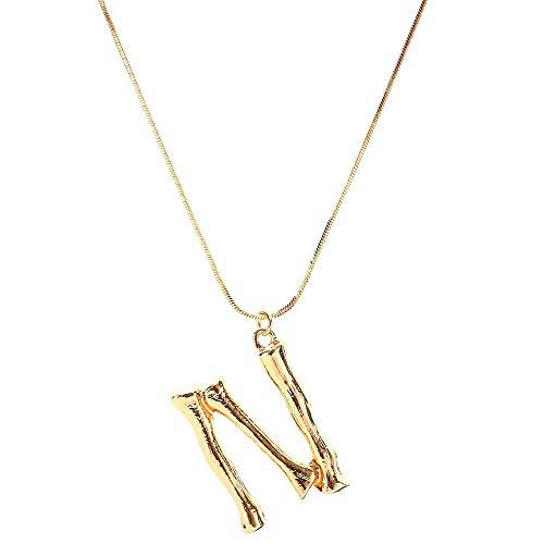 Damen Kette Mode Frauen Geschenk Englisch Brief Name Anhänger Halsketten Schmuck Buchstabenkette Halskette Mit Buchstabe, A-Z Erste Choker Personalisierte Zierliche Alphabet Kettenlänge