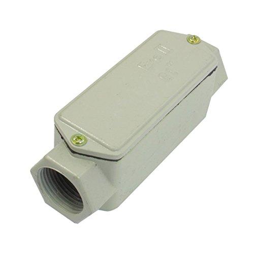 DealMux Metall Shell G1 '2 Loch Linear Rundexplosionsgeschützte Conduit Outlet Box - Conduit Outlet Box
