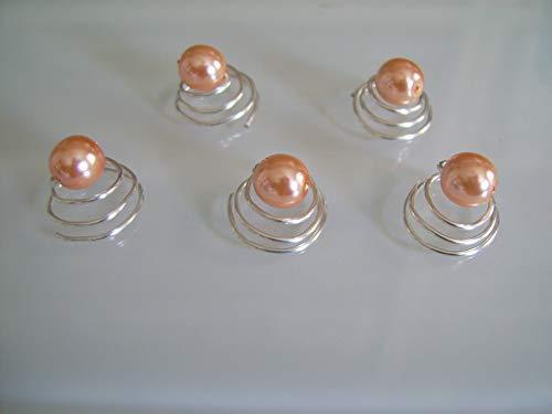 lot 5 spirales Femme Orange...