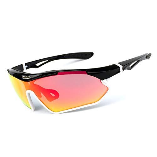HAOYU Sonnenbrille Einstellbare Nasenpads Fahrrad Reitbrille UV-Schutz Outdoor Sports Spiegel Sonnenbrille Designer Style für Frauen, Männer,F