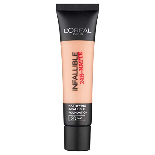 L'Oréal Paris Infaillible 24H Fond de Teint Matifiant 20 Sable 35 ml