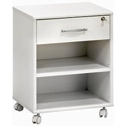Maja 40255535 Cassettiera a rotelle 45,6x 59,1x 36 cm colore: Bianco
