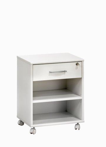 MAJA-Möbel 4025 5535 Rollcontainer, weiß uni, Abmessungen BxHxT: 45,6 x 59,11 x 36 cm