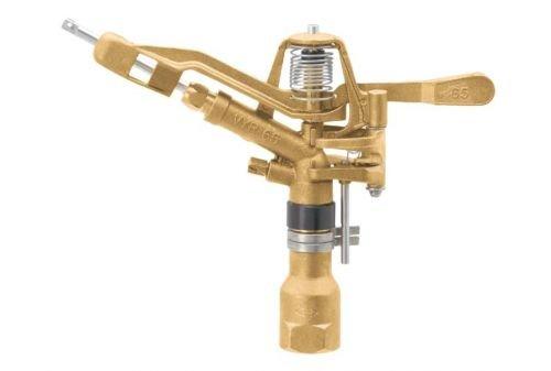 Geka 656331SB Arroseur Canon Rotatif/par Secteur V65, Argent/Or, 18 x 8 x 13 cm