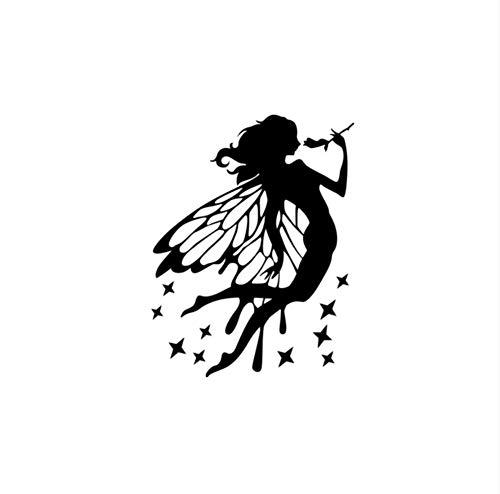 YUSHANGG Wandaufkleber Aufkleber Neue Blumenfee Aufkleber Wandaufkleber Kinderzimmer Dekoration Wandaufkleber Dekoration Wohnzimmer 57X35 cm Januar