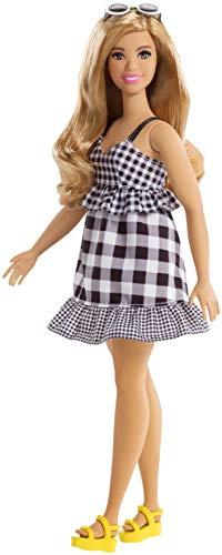 ionistas Puppe, im schwarz-weißen Karo-Kleid ()