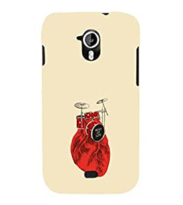 EPICCASE Beat of life Mobile Back Case Cover For Micromax A116 Canvas HD (Designer Case)