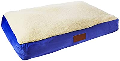 Ellie-Bo Dog Bed with Faux Suede and Sheepskin Topping for Dog Cage/Crate Medium 30-inch by Ellie-Bo