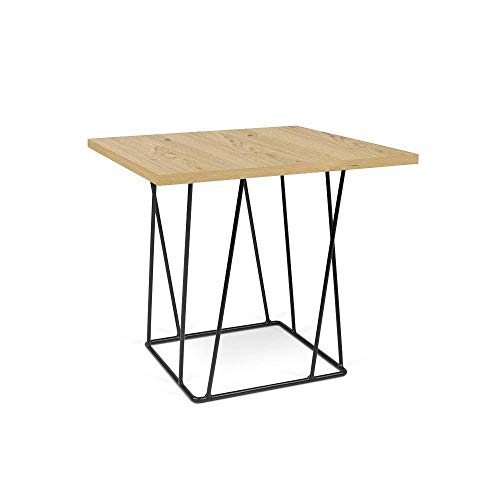 TemaHome Table Basse Helix 50 chêne Structure laquée Noire