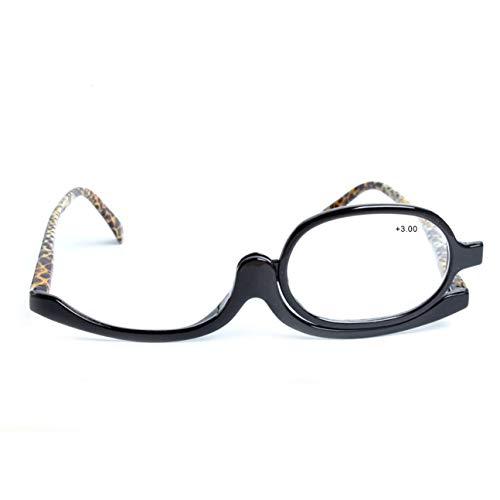 180 grados giratorio Monocular Mujer Cosméticos Gafas