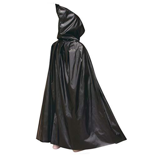 Magic Black Kostüm Mann - Gwxevce Halloween Party Weihnachten Ostern Magic Long Vampire Hooded Cloak Kostüm Cape Black