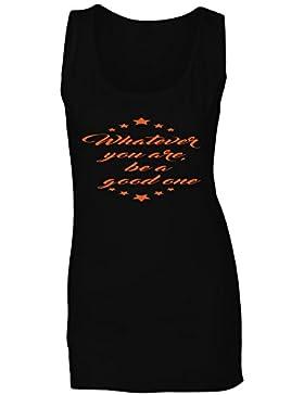 Sea lo que sea, sea una buena novedad naranja camiseta sin mangas mujer r89ft