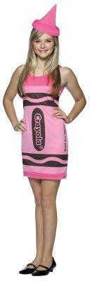 Rasta Imposta 195766 Tickle Me Pink Crayola Crayon Teen Kost-m Gr--e: 13-16 (Crayola Crayon Kostüm Für Erwachsene)