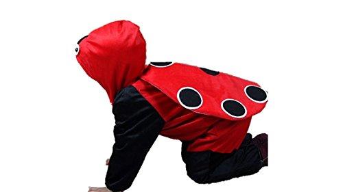 Kinder Tierkostüme Jungen Mädchen Unisex Kostüm Outfit Cosplay Kinder Strampelanzug (Marienkäfer, XL (Für Kinder von 120 bis 140 cm)) (Marienkäfer-kostüm Für Teenager)
