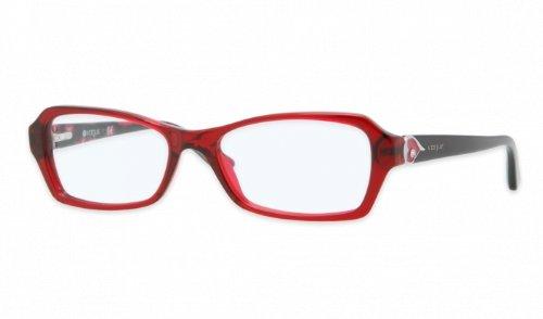 cfe12bd3d8171e Vogue - Monture de lunettes - Femme Rouge Transparent Red