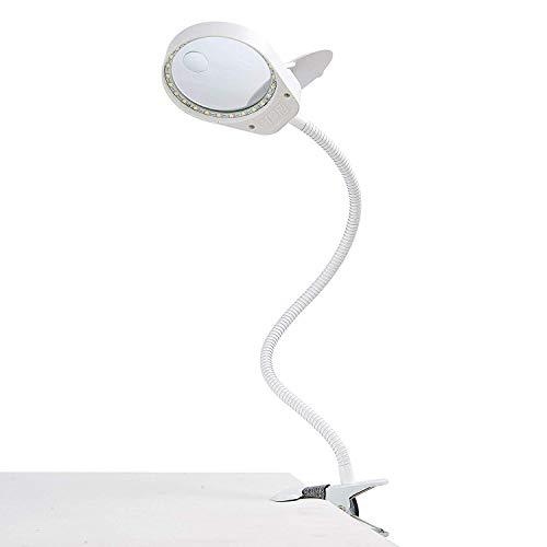 ENJOHOS Lupenleuchte mit Klemme und Flip,3X 10X LED-Tageslicht Lupenlampe Tischklemme Lupe Tischlupe Schreibtischlampe für handwerkliche Arbeiten,Lesen,Arbeit,Nähen,Hobbys,Sehschwäche -