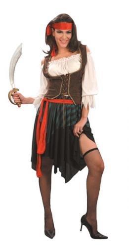 Henbrandt - Costume da pirata dei Caraibi, da donna, taglia unica