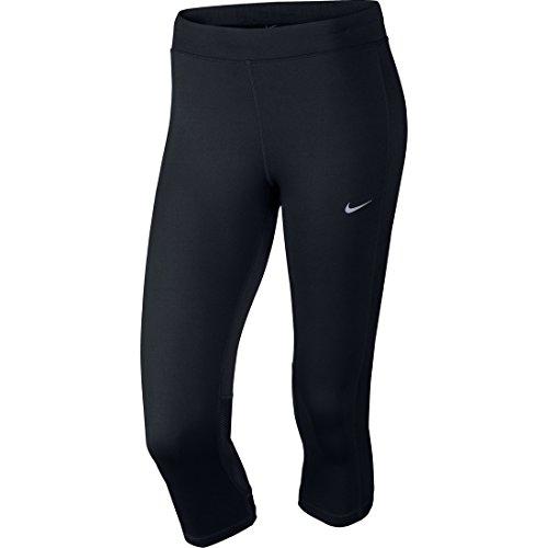 Nike Df Essential Capri Collant da Corsa - Nero (Nero/Nero/Nero) - S
