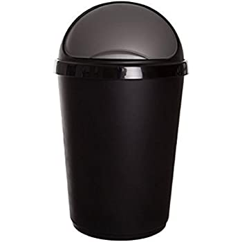 Black 30 x 20 x 20 cm Whitefurze 30 litres Bullet Bin and Lid