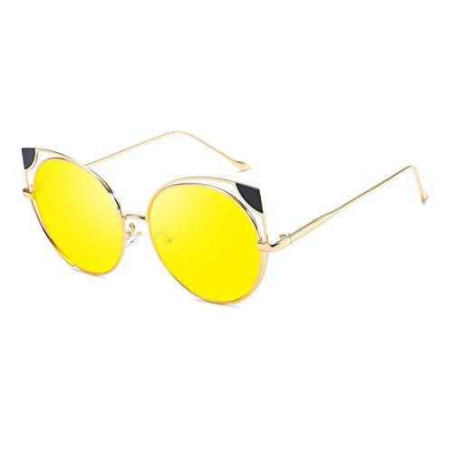 WZYMNTYJ Sonnenbrille Cat Eye Frauen Männer Sonnenbrille Eyewear Brillen Metallrahmen Hohl HD Objektiv UV400 Mode Persönlichkeit Neue