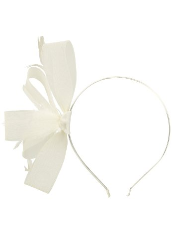 Capelli New York Haarreif, Fascinator 'Flamboyant' Ivory, One Size