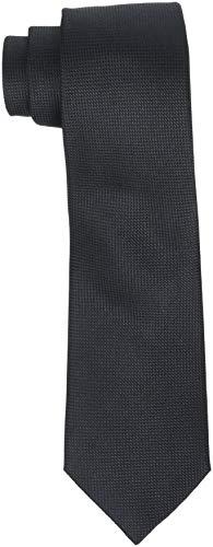 SELECTED HOMME Herren SLHNEW TEXTURE TIE 7CM NOOS B Krawatte, Schwarz Black, One Size