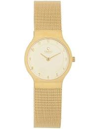 Obaku Harmony V133L GGMG - Reloj de mujer de cuarzo, correa de acero inoxidable color oro