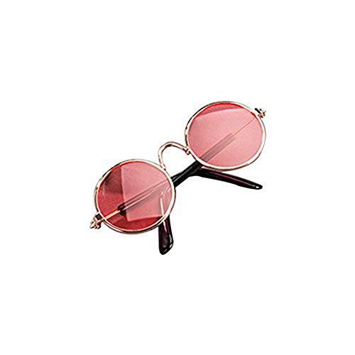 Haodou Haustier-Sonnenbrille Stilvoll Haustiere Brille Ebenenspiegel Schatten Glasses Schutzbrillen Vogue Nerdbrille (Rosa)