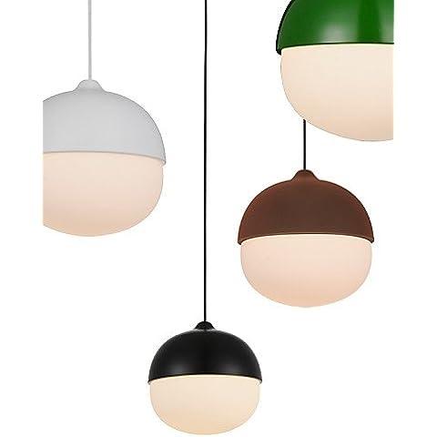 LYNDM-Miglior regalo di Natale,Acorn Ciondolo lampada/1 luce/moderna semplicit¨¤/Finitura in acciaio