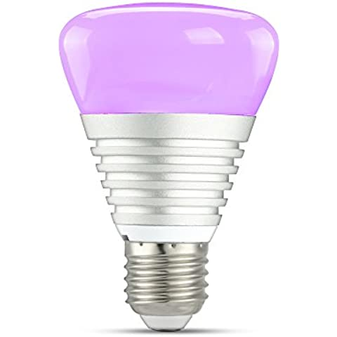 icherir activada por sonido música controlada LED bombilla, E275W RGB regulable, cambia de color, Mood luces para interior de iluminación al aire libre Partido Danza banda concierto, mejor regalo de