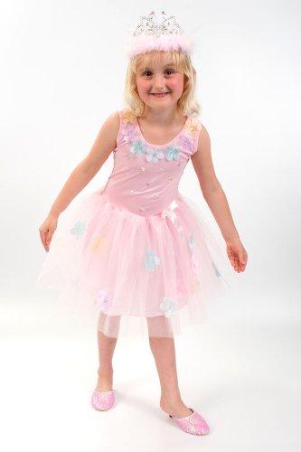 Lucy Locket - Pailletten Blumen Pink Fee Kinderkostüm (4 (Blumen Für Kostüm Kinder Fee)