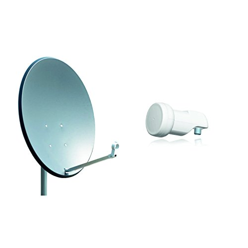 Opticum X80 Satelliten-Antenne (80 cm, Stahl - anthrazit, TÜV zertifiziert, mit Single LNB LSP-02G)