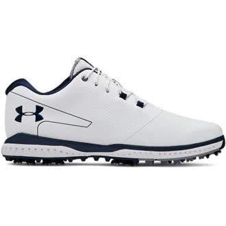 Under Armour Fade RST 2 E, Chaussures de Golf Homme, Blanc (White/Steel/Academy 100), 43 EU