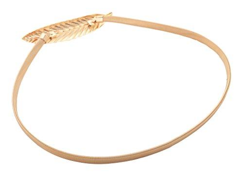 Homeoculture Golden Metal Belt Belly Chain for Women (BELT1LEAF)