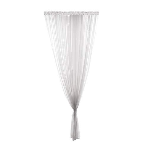 Vorhang Transparent, Gardinen Schlaufenschal Schiere Fenstervorhang, 200X100Cm (LxB) Vorhang Tüll, Fensterbearbeitung, Verdunkelung Ösen Gardinen Garn für Wohnzimmer Schlafzimm