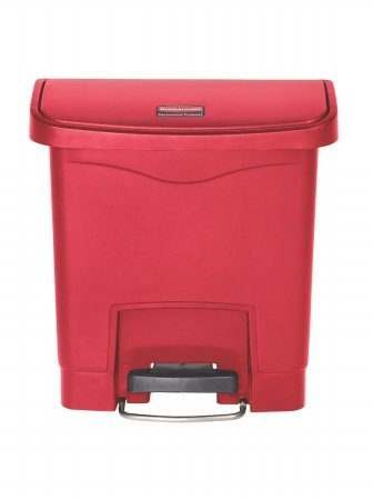 rcp1883564-front-step-slim-jim-resin-step-on-wastebasket-8-gallon-red-by-essn