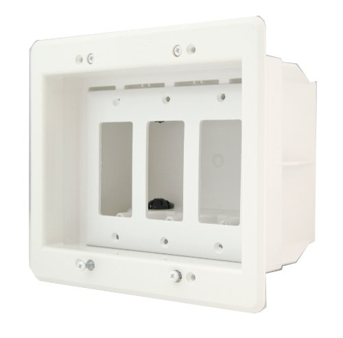 arlington-dvfr3w-1-recessed-electrical-outlet-mounting-box-with-paintable-wall-plate-3-gang-white-by
