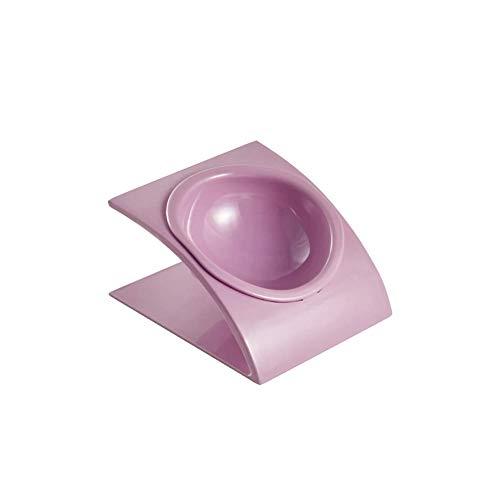 MGRJ Futternapf, Trendiger Stil, abgeschrägt, hoher Futternapf, für Katzen, Hund, umweltfreundlich, hochwertige Materialien, Melamin-Harz-Kunststoff, Blau Rose -