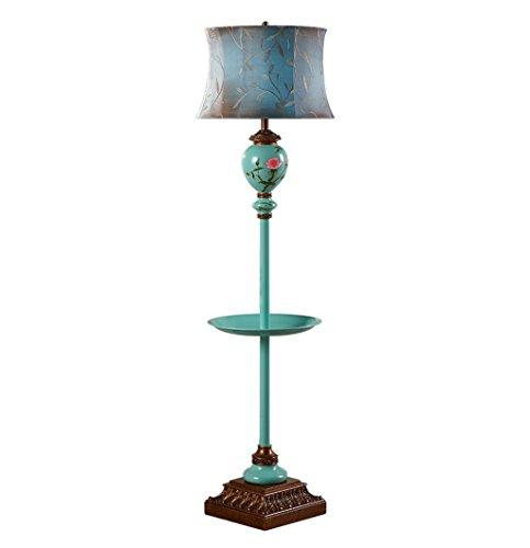 Home mall- Moderne minimalistische Stil Stehlampe | Harz Standleuchte mit Eisen Tablett für Wohnzimmer Schlafzimmer Arbeitszimmer E27 153X42cm -