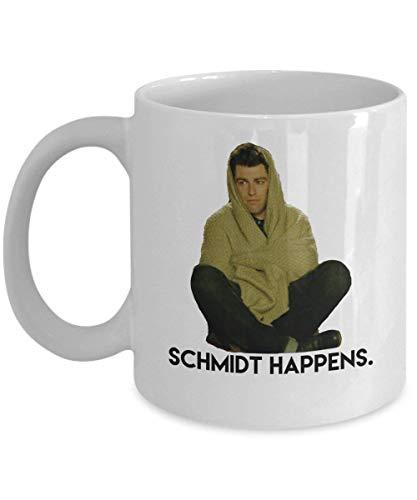 Schmidt Happens Kaffeebecher Cup (White) 11 OZ The New Girl Tv Show Series Gifts Accessories Merchandise Shirt Sticker Decal Art Decor (Shirt Knochen-tv)