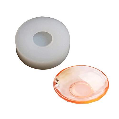 SH-Flying DIY Silikonform, Handgefertigte Kleine Schüssel Container Platte Form Kristall Epoxy UV Harz Trocken Blumenform, Damit Sie Eine Schöne Dekorative Schüssel (Farbe Zufällig).