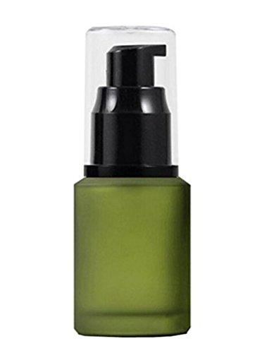 ericotry 1 unidad 60 ml / 2 onzas vacío Upscale cristal recargable loción bomba botella para cosméticos maquillaje crema líquido gel serum dispensador separado recipiente
