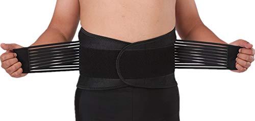 AGIA TEX Germany Bandscheiben-Gürtel Neopren Rückenstützgürtel Rückenbandage für Damen Herren Arbeit Sport Freizeit XXXL = 120-130 cm Bauchumfang