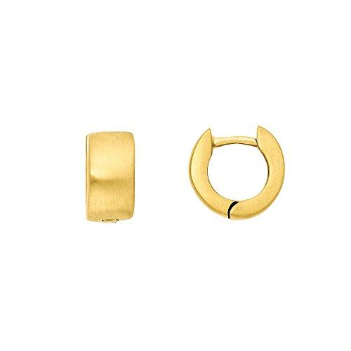 steel_art Damen-Ohrring creole s gold Swarovski Zirconia BraunEdelstahl ho6202-7