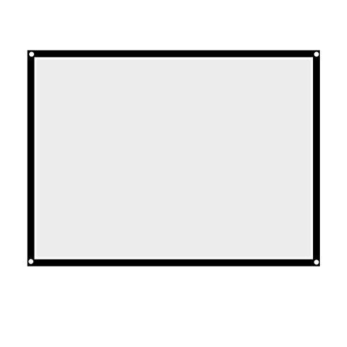 VBESTLIFE 60 Zoll -100 Zoll Leinwand,Portable Faltbare Nicht Falten Weiß Projektor Projektionsfläche 4: 3 Vorhang, für HD Full HD, Heimkino, Klassenzimmer, Konferenz, Präsentation(72 Zoll)