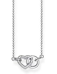 Thomas Sabo Damen-Kette Together Herz Klein Glam   Soul 925 Sterling Silber  Länge von 40 bis 45 cm KE1643… a1d09504ed