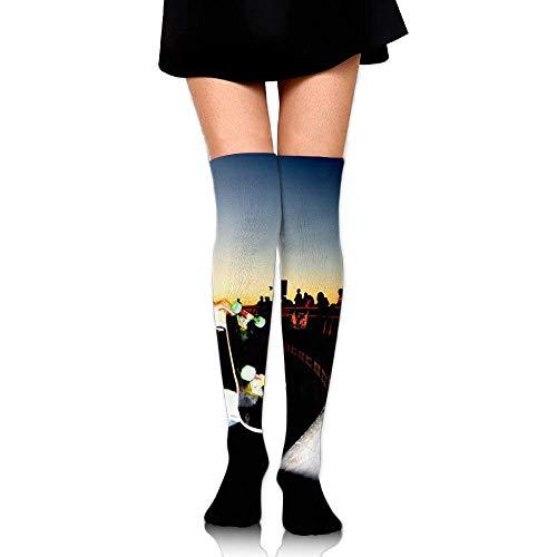 hgdfhfgd Women Thigh High Over Knee Skateboard Long Tube Dress Legging Soccer Compression Stocking Trend 1839