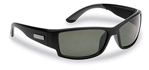 Flying Fisherman Razor Polarized Sunglasses, Matte Black Frame, Smoke Lenses